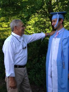 My dad and my brother at UNC graduation in May.